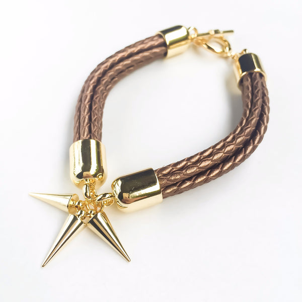 Bronze natural leather bracelet | KRISTINAGOESWEST.COM - 1