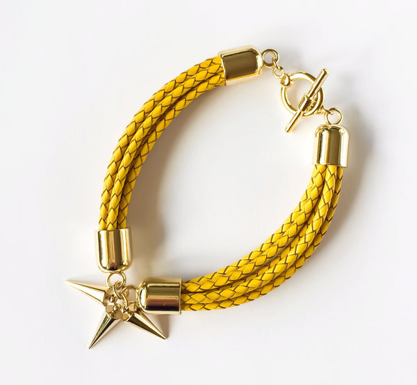 Yellow natural leather bracelet | KRISTINAGOESWEST.COM  - 2