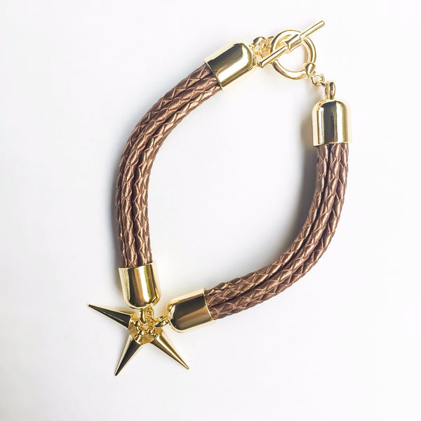 Bronze natural leather bracelet | KRISTINAGOESWEST.COM - 2