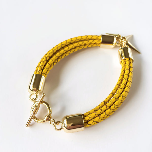 Yellow natural leather bracelet | KRISTINAGOESWEST.COM  - 3