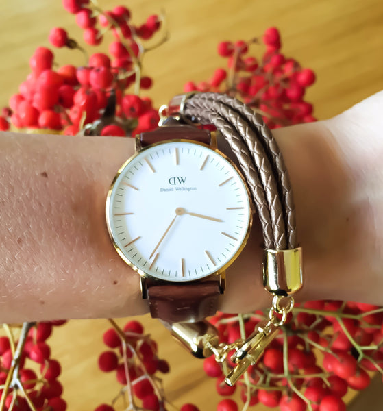 Bronze natural leather bracelet | KRISTINAGOESWEST.COM - 4
