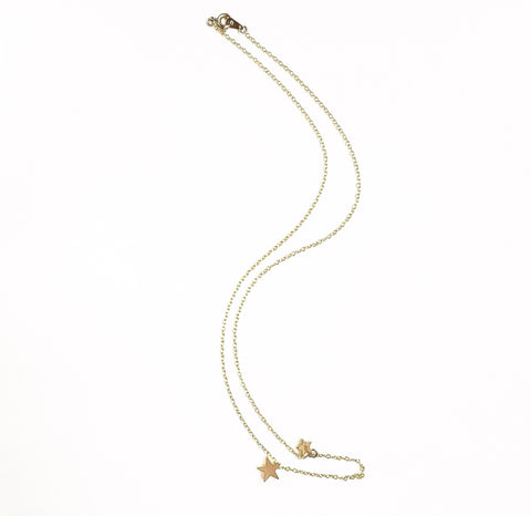14k gold plated silver necklace Stars | KRISTINAGOESWEST.COM - 1
