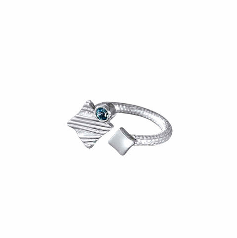 KGW by S.B. | Silver ring Small Square - Kristina Goes West  - 1