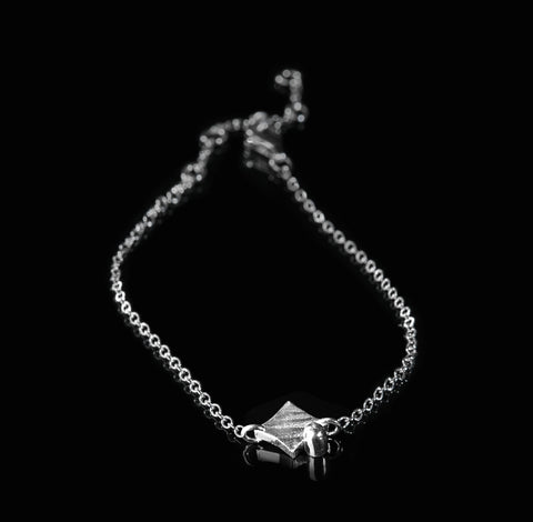 KGW by S.B. | Single chain silver bracelet 'Square' - Kristina Goes West