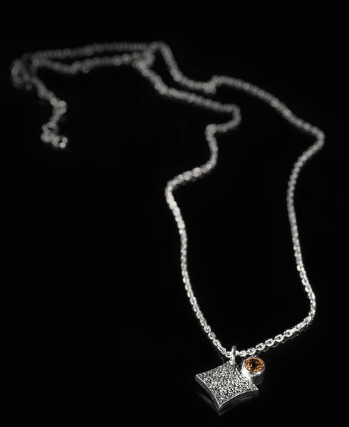 KGW by S.B. | Silver necklace with Citrine - Kristina Goes West  - 2
