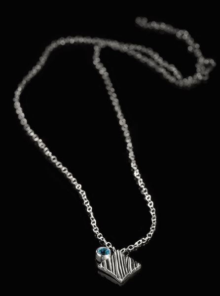 KGW by S.B. | Silver necklace with Swiss Topaz - Kristina Goes West  - 2