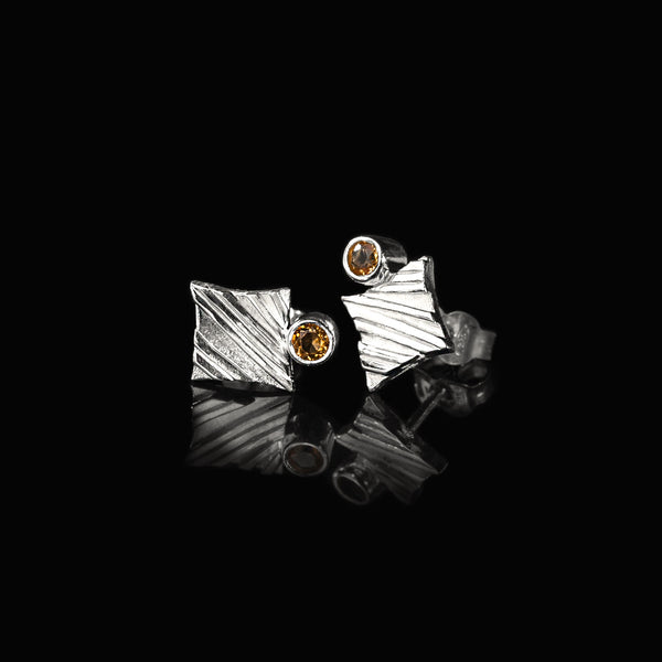 KGW by S.B. | Silver earrings with Citrines - Kristina Goes West  - 2