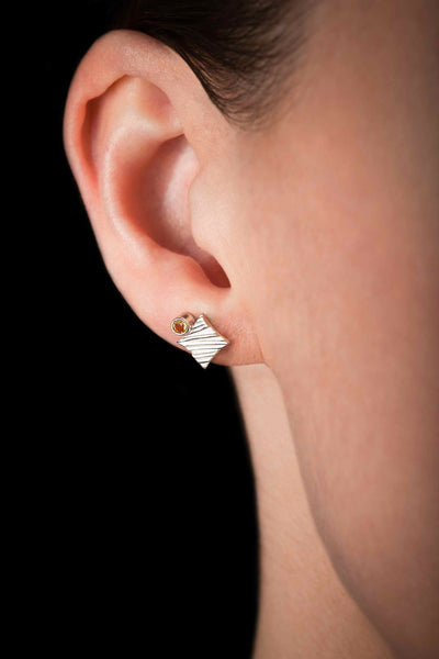 KGW by S.B. | Silver earrings with Citrines - Kristina Goes West  - 3