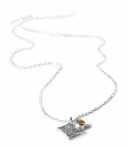 KGW by S.B. | Silver necklace with Citrine - Kristina Goes West  - 1