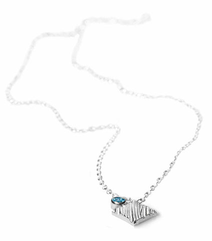 KGW by S.B. | Silver necklace with Swiss Topaz - Kristina Goes West  - 1