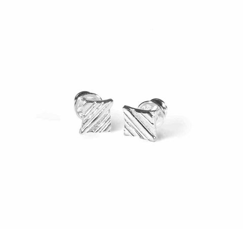 KGW by S.B. | Stripey silver earrings - Kristina Goes West  - 1