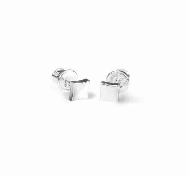 KGW by S.B. | Small polished silver earrings - Kristina Goes West  - 1