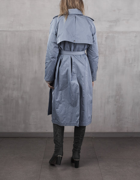 KristarDesign - Steel blue transeasonal trench coat Anna French - Kristina Goes West  - 2