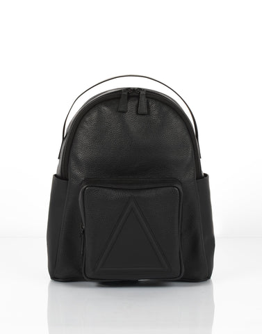 Black classic unisex leather backpack by Bagology London | KRISTINAGOESWEST.COM - 1