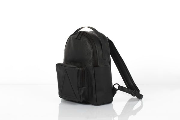 Black classic unisex leather backpack by Bagology London | KRISTINAGOESWEST.COM - 2