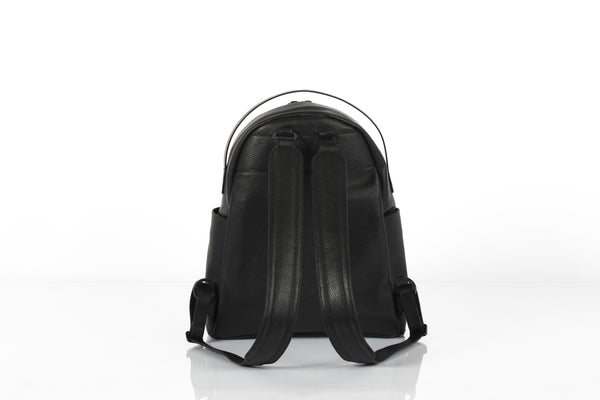 Black classic unisex leather backpack by Bagology London | KRISTINAGOESWEST.COM - 3