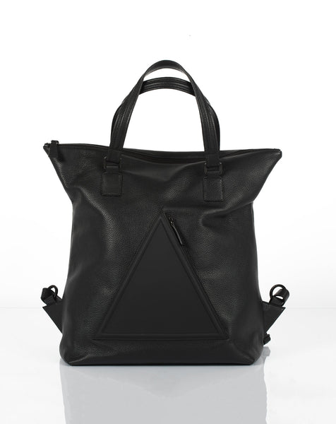 Black unisex backpack and travel bag by Bagology London | KRISTINAGOESWEST.COM - 1