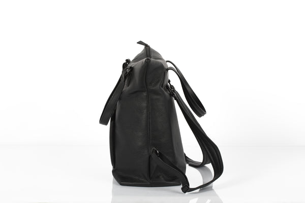 Black unisex backpack and travel bag by Bagology London | KRISTINAGOESWEST.COM - 2