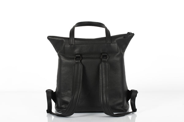 Black unisex backpack and travel bag by Bagology London | KRISTINAGOESWEST.COM - 3