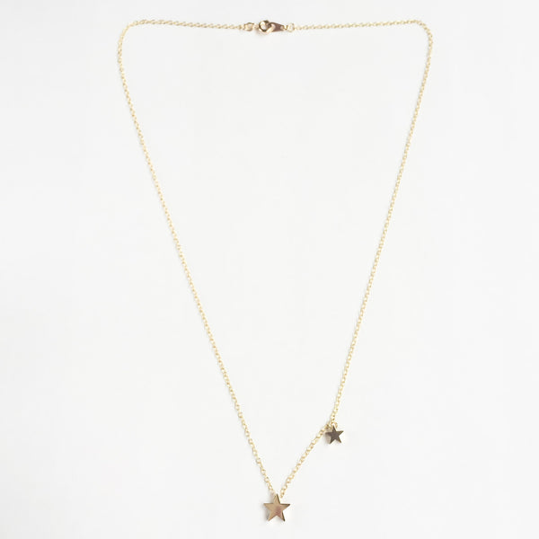 KGW Private Label | 14k gold plated silver necklace Stars - Kristina Goes West  - 2