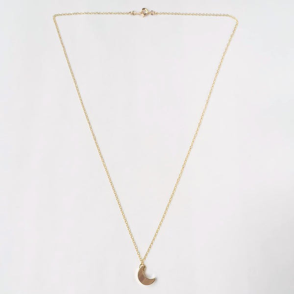 KGW Private Label | 14k gold plated silver necklace Moon - Kristina Goes West  - 2