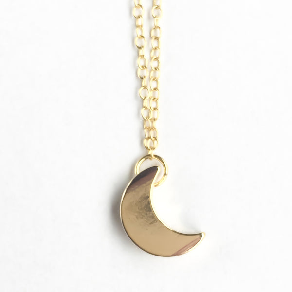 14k gold plated silver necklace Moon | KRISTINAGOESWEST.COM  - 3