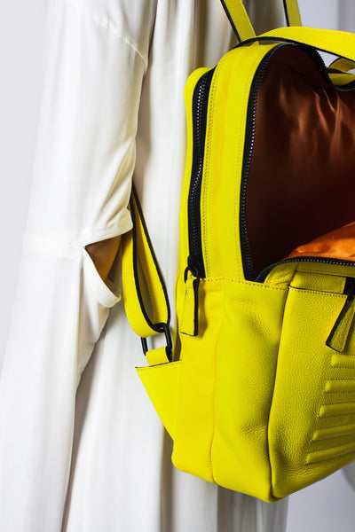 Mean yellow two-in-one unisex leather bag | Bagology London - Kristina Goes West  - 6