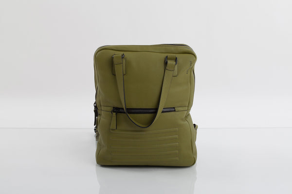 Power olive two-in-one unisex leather bag | Bagology London - Kristina Goes West  - 1