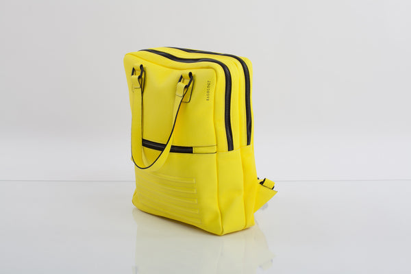 Mean yellow two-in-one unisex leather bag | Bagology London - Kristina Goes West  - 2