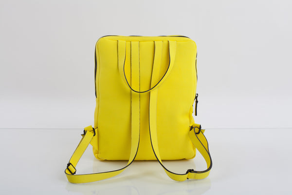 Mean yellow two-in-one unisex leather bag | Bagology London - Kristina Goes West  - 3