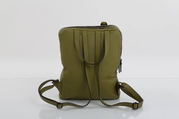Power olive two-in-one unisex leather bag | Bagology London - Kristina Goes West  - 3