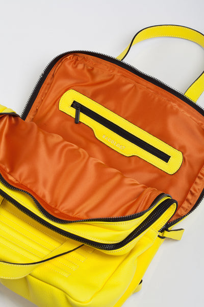 Mean yellow two-in-one unisex leather bag | Bagology London - Kristina Goes West  - 4