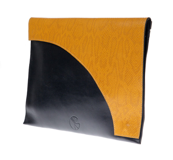 Black and yellow leather envelope clutch | KRISTINAGOESWEST.COM  - 2