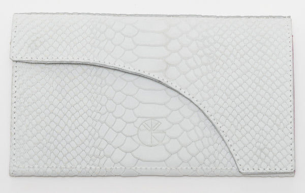 White python effect natural leather wallet and chain shoulder bag | KRISTINAGOESWEST.COM  - 3