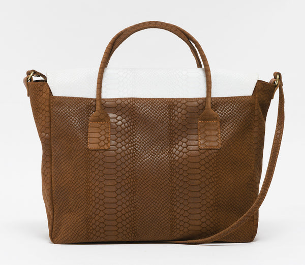 KGW Private Label | Brown and White 'Dragon I' Tote - Kristina Goes West  - 3