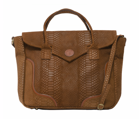 KGW Private Label | Tanned Brown 'Dragon I' Tote - Kristina Goes West  - 1