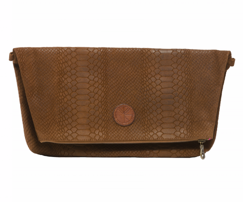 KGW Accessories - Tanned Brown 'Dragon II' Clutch - Kristina Goes West  - 1