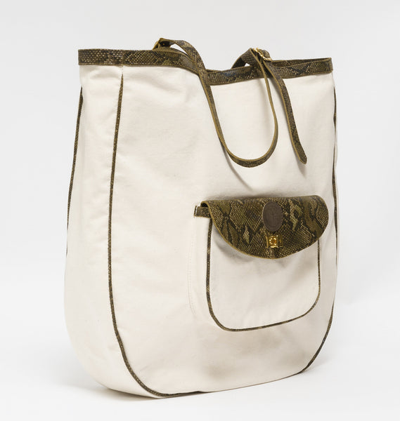 KGW Private Label | Canvas and Leather Beach Bag - Kristina Goes West  - 2
