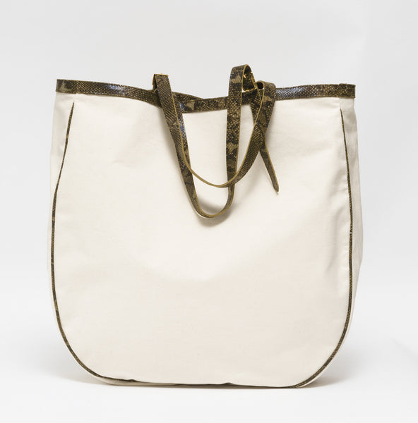 KGW Private Label | Canvas and Leather Beach Bag - Kristina Goes West  - 3