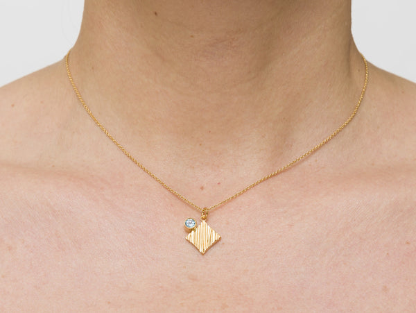KGW by S.B. | Gold plated silver necklace with Swiss Topaz - Kristina Goes West  - 4