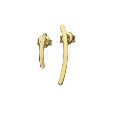 DD Workshop | Asymmetric 14-karat gold plated silver earrings TWIG - Kristina Goes West