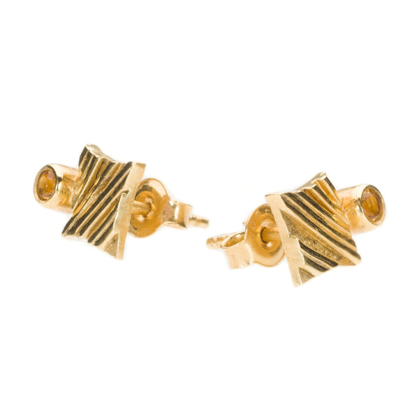 KGW by S.B. | Gold plated silver earrings with Citrine - Kristina Goes West  - 2