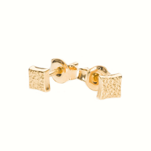 KGW by S.B. | Gold plated silver earrings with dotted patern - Kristina Goes West  - 1