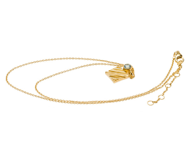 KGW by S.B. | Gold plated silver necklace with Swiss Topaz - Kristina Goes West  - 2