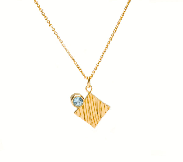 KGW by S.B. | Gold plated silver necklace with Swiss Topaz - Kristina Goes West  - 3