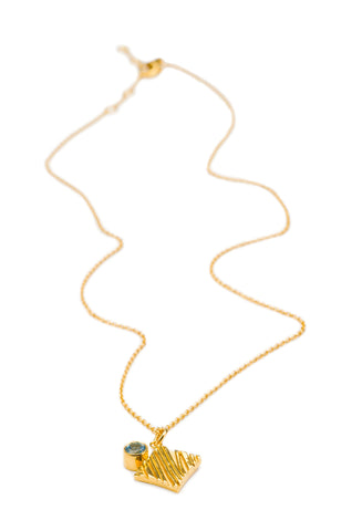 KGW by S.B. | Gold plated silver necklace with Swiss Topaz - Kristina Goes West  - 1