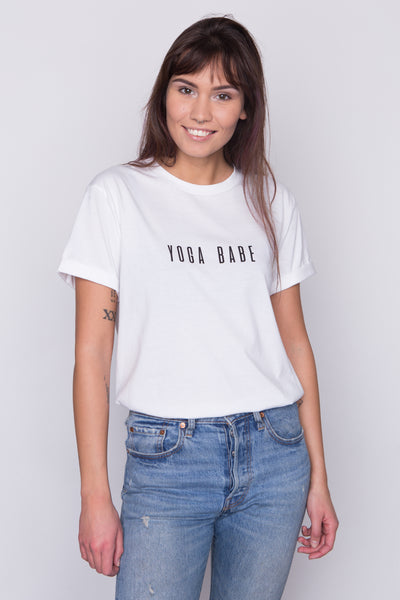 Organic cotton tee Yoga Babe by Babe Universe | KRISTINAGOESWEST.COM - 1