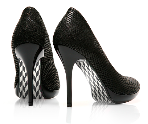 Chevron - Ambitious - decorative shoe decal - newheeltips.com
