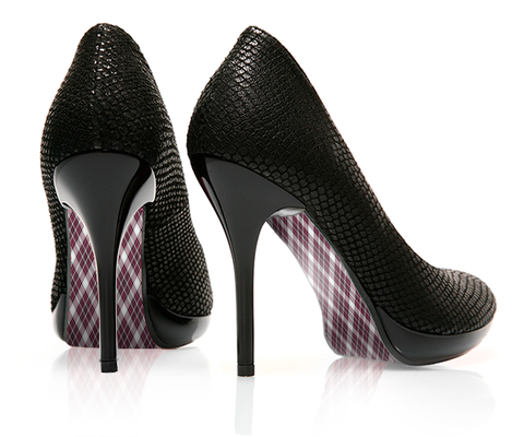 Pretty in Plaid - Argyle - decorative shoe decal - newheeltips.com