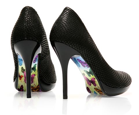 Butterfly Garden - decorative shoe decal - newheeltips.com